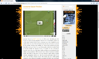 Awesome Soccer Indie Game Magazine Preview