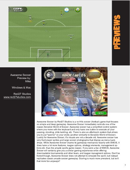 Awesome Soccer Preview