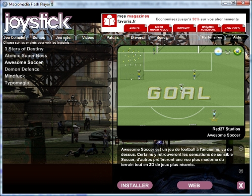 Awesome Soccer in Joystick Magazine