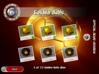 Awesome Soccer Golden Balls